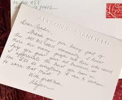 In Praise Of The Handwritten Thank You Note Art Biz Blog