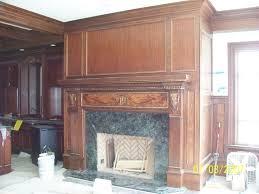 walnut fireplace mantel and panels
