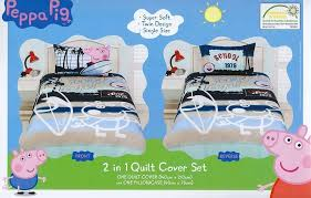 peppa pig twin bedding comforter set quilt cover