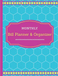 Monthly Bill Organizer Book Monthly Bill Planner Organizer Financial Planner Financial