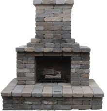 Fireplace: Semplice Outdoor Fireplace Kit