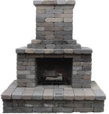 Fireplace: Semplice Outdoor Fireplace Kit
