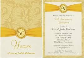 Sample Invitation For 50Th Wedding Anniversary | Museopedagogicoandaluz