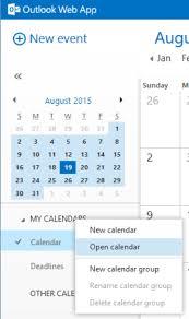 online calendars 2015 open a co workers calendar in outlook web app
