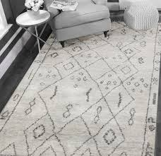 rugsville moroccan beni ourain gray wool rug 12192 5x8
