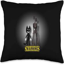 It was cat, my favorite character on the show, hanging from a noose, head drooping down. Amazon Com Cartoon Cat Siren Head Creepypasta Horror Scary Cartoon Cat We Love To Escape From Siren Head Throw Pillow 16x16 Multicolor Home Kitchen