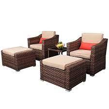 avawing 5 piece patio furniture set
