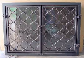 nice iron fireplace screens with perpetua iron fire screens custom made to fit your fireplace