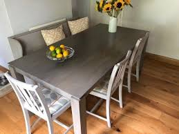 john lewis asha dining table solid mango wood in grey finish