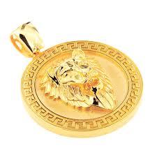 p162109 1 cutom solid gold lion head pendant