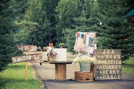 wood pallet wedding ideas. wedding display with pallet signs and old quits wood ideas g