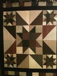 Hunters Star Quilt. What a bold looking quilt. I love the color ... & Hunters Star Quilt. What a bold looking quilt. I love the color choices the  quilter used. I think the corner half square triangles really set th… Adamdwight.com