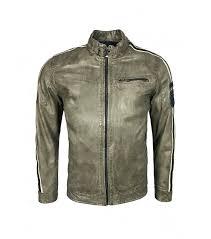 men coat milestone men s leather jacket beige taupe i11enf2da