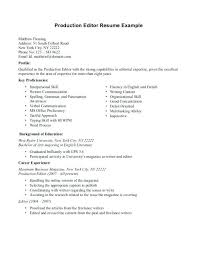 Film Resume Template New Production Assistant Resume Template