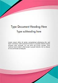 Word Background Template Abstract Background With Curve Line Pattern Word Template
