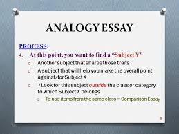 analogy essay pre writing the process analogy essay process  analogy essay process 4