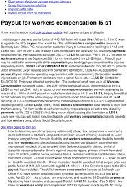 Long Beach Workers Comp Settlement Chart Payout For Workers Compensation L5 S1 Pdf Free Download