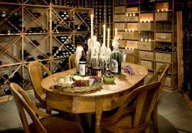 inviting wine cellars design ideas featuring sy wall drilled wooden cross racks meet open shelves with