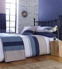 lansfield new york navy blue bedding navy stripe duvet cover uk