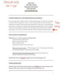 Psychology Resume Objective Beauteous Psychology Resume Tributetowayne