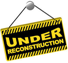Image result for site currently under reconstruction