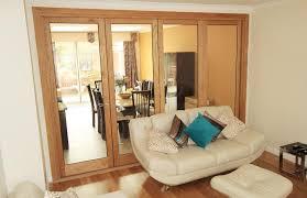 single glazed internal oak bi folding doors palmers green