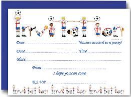 Football Party Invitations Templates Free Football Party Invitation Template Football Party Invitations