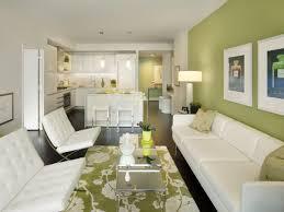 Apple Green White Modern Living Room Kitchen