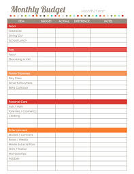 Project On Family Budget For A Month Home Finance Printables The Harmonized House Project Free
