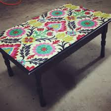 Mod Podge Kitchen Table Mod Podge Decoupage Fabric Onto A Castaway Coffee Table