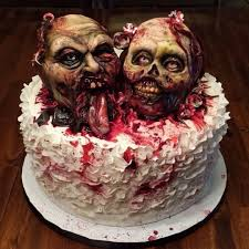 zombie wedding cake cake by sarah ono jones cakesdecor Zombie Wedding Decorations zombie wedding cake zombie wedding supplies