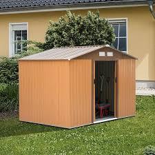 metal shed 9x6 ft garden shed khaki