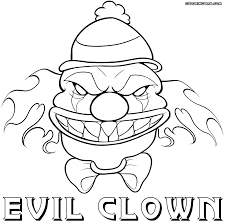 Scary Clown coloring pages | Coloring pages to download and print