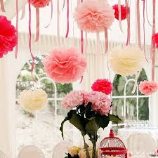 Tissue Balls Party Decorations Wholesale Wholesale 100 InchesTissue Paper Pom Poms Flower Pom Poms 31