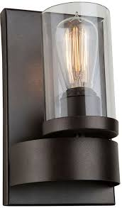 artcraft ac10007 menlo park contemporary dark chocolate wall sconce loading zoom