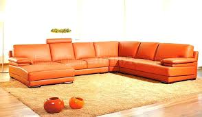 modern sectional sofas. Top Grain Leather Sectional Sofa Orange Match Modern By Sanremo . Sofas