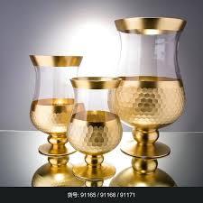 gold mercury glass vases flower shaped vase inexpensive in bulk