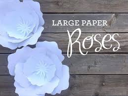 Giant Paper Flower Svg Printable Paper Flower Templates Giant Template Svg Image 0 Big Rose