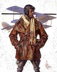 credit ilration by j c leyendecker of a dashing aviator