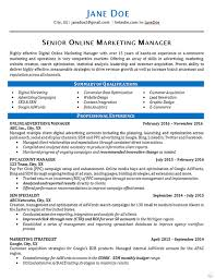 Online Marketing Resume Example Marketing Resume Resume Examples