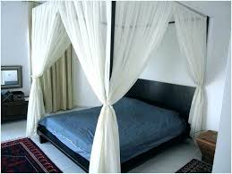 Blackout Bed Canopy With Curtains Image Of Curtain Patterns Black ...