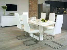 contemporary white leather dining room chairs modern table and chair made of solid roo