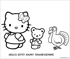 )  3 (full name kitty white (キティ・ホワイト kiti howaito? Hello Kitty And Her Friends Happy Thanksgiving Coloring Pages Cartoons Coloring Pages Free Printable Coloring Pages Online
