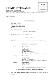 Format For Resume Resume Format Address Therpgmovie 73