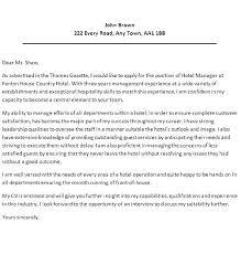 Sample Cover Letter For Hospitality Industry Cover Letter For Hotel Jobs Serpto Carpentersdaughter Co