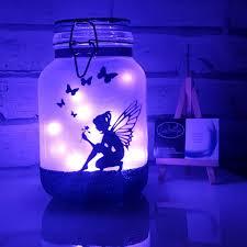 Fairy In A Jar Night Light Mermaid Night Light Mood Lighting Little Mermaid Jar With