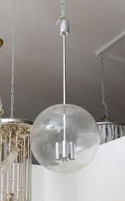 vintage glass pendant globe light fixture 2