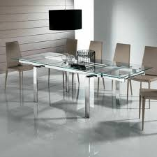 Nervi glass office desk Stylish Adorable Large Glass Dining Tables Create Modern Dining Room With Glass Dining Table Ivchic Adorable Large Glass Dining Tables Create Modern Dining Room With