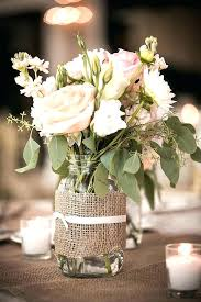 Mason Jar Table Decorations Wedding Burlap Wedding Vase Centerpieces By On Burlap Centerpieces For 25