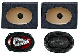 4 Speakers Q Power Angled Style 6 x 9 Inch Car Audio Speaker Box Enclosures  Speaker/Sub. Enclosures Vehicle Electronics & GPS